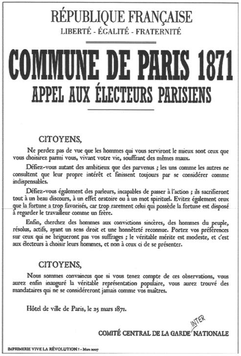 Questions d'histoire : le comité central et la Commune -