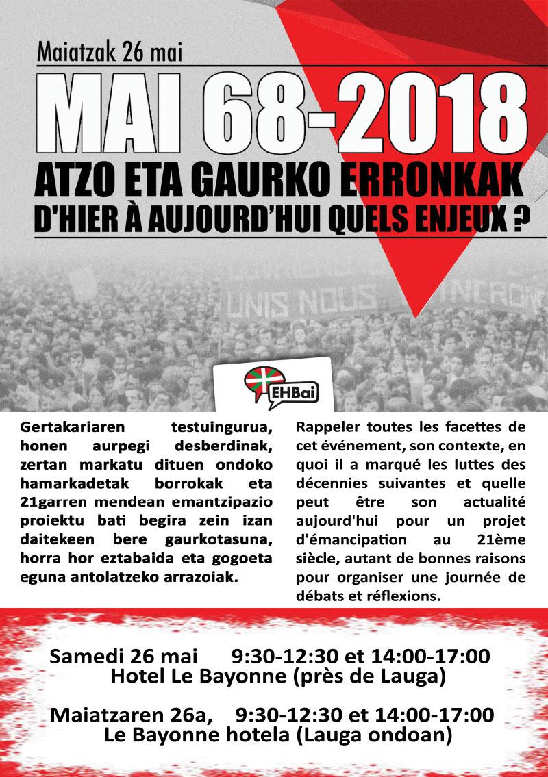 Conférenceà Bayonne le 26 mai 2018